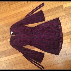 Lauren Conrad Velvet Fit & Flare Dress